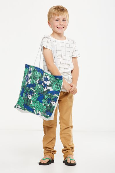 Foundation Kids Tote Bag, JUNGLE CROC