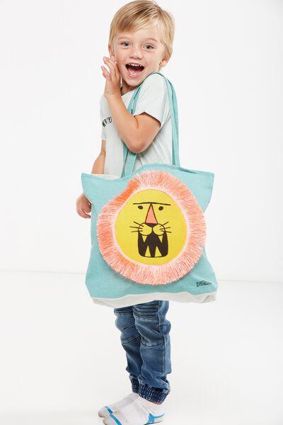 Foundation Kids Tote Bag, FRINGE LION