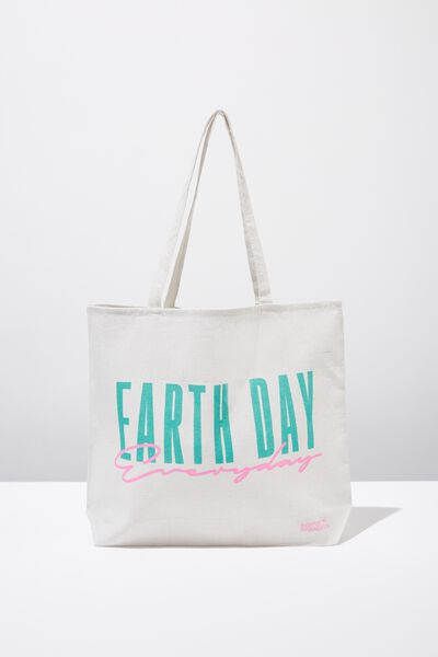 Cotton On Ladies Foundation Tote, EARTH DAY