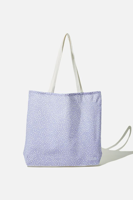 Foundation Body Tote Bag, LILAC DOT TO DOT
