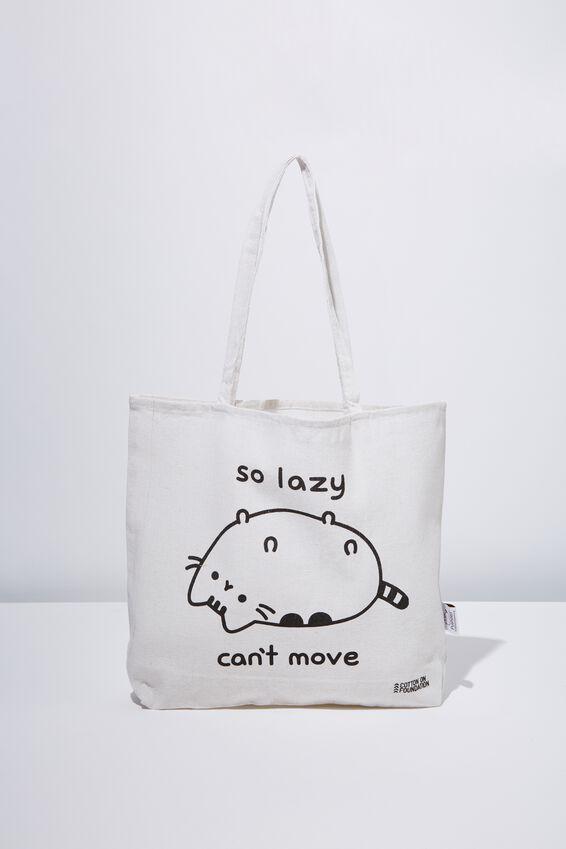 Typo Difference Tote Bag, LCN PUSH PUSHEEN