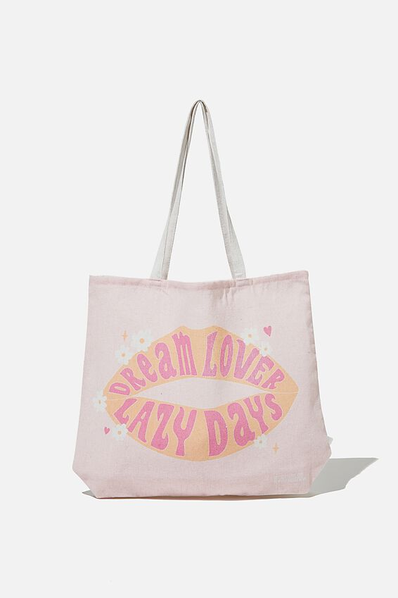 Foundation Body Tote Bag, DREAM LOVER LAZY DAYS