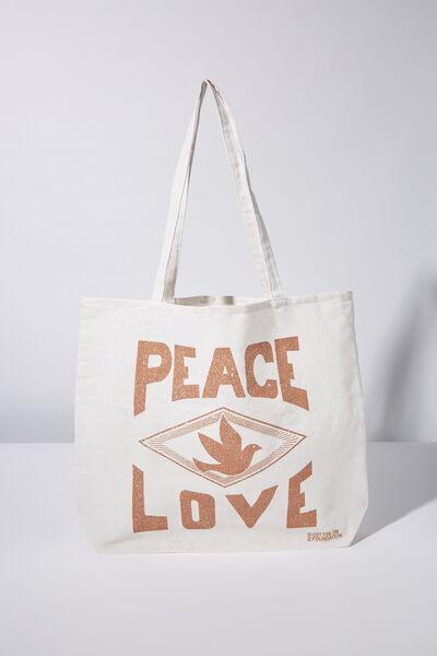 Foundation Tote Bag Adults, RSA PEACE LOVE
