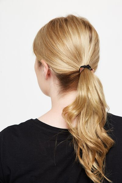 Laura Hair Band Pack, BLACK ROSE GOLD