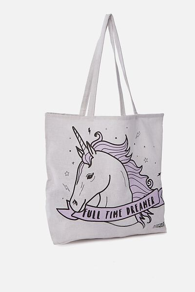 Typo Difference Tote Bag, FULL TIME DREAMER