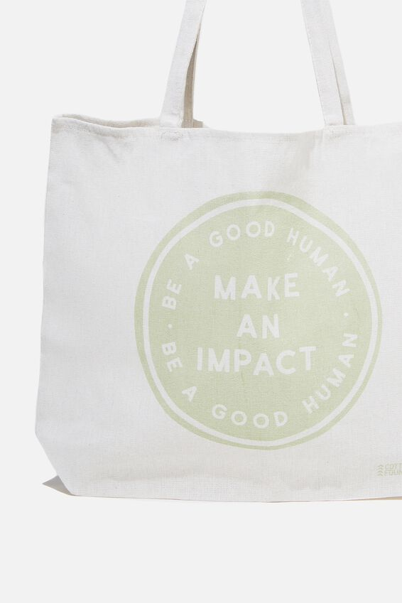 Typo Difference Tote Bag, MAKE AN IMPACT