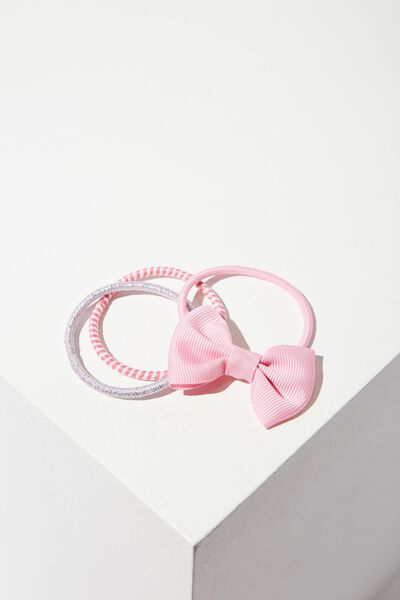 Grace Hair Band Pack, PINK STRIPE