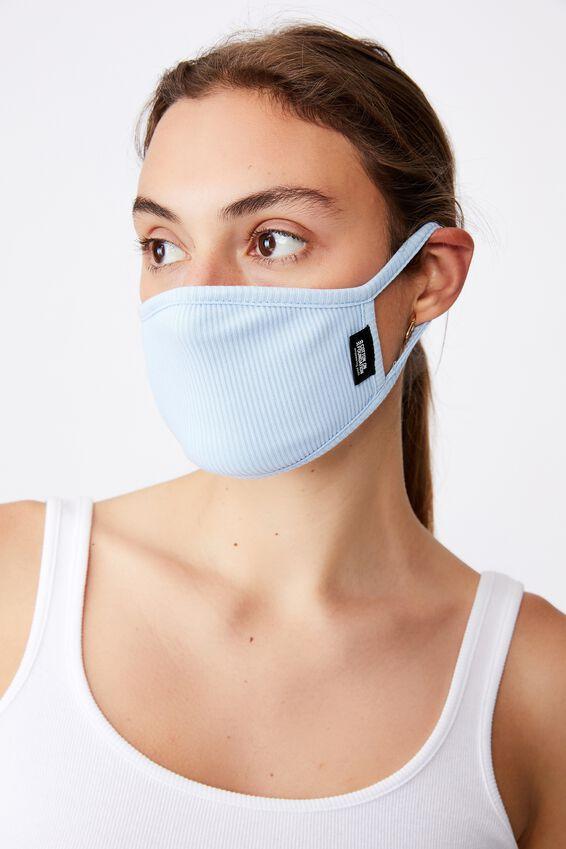 Foundation Rib Face Mask, CORNFLOWER BLUE