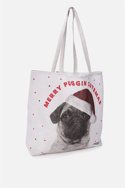 Typo Difference Tote Bag, MERRY PUGGIN