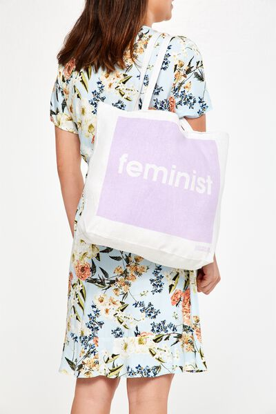 Cotton On Foundation Tote, FEMINIST