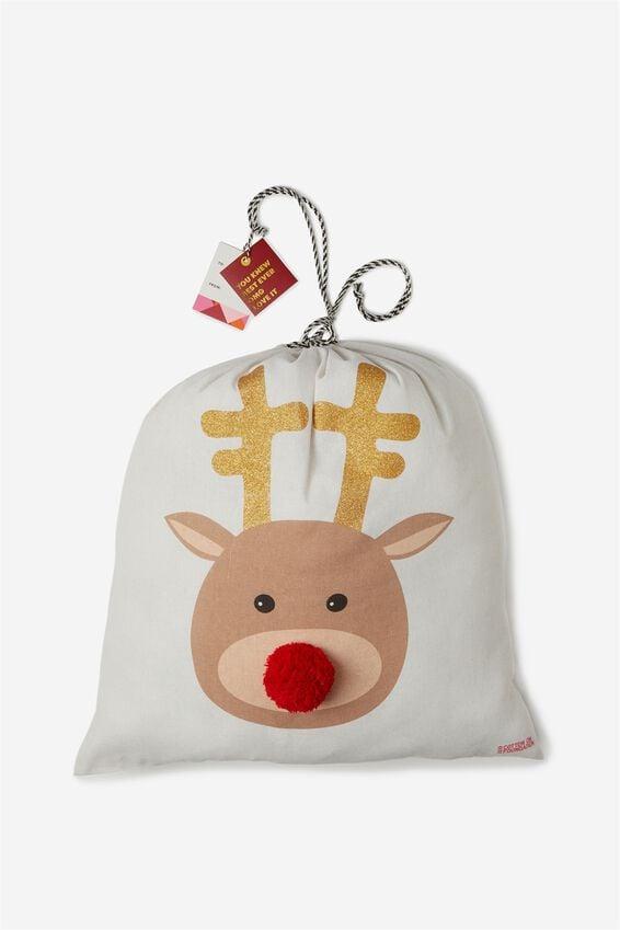 Cof Large Santa Sack, REINDEER