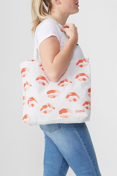Cotton On Foundation Tote, LIPS