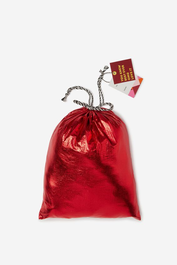 Cof Small Gift Bags, METALLIC RED