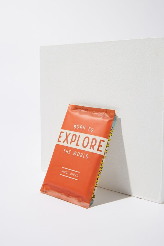 Typo Difference Tissues, BORN TO EXPLORE