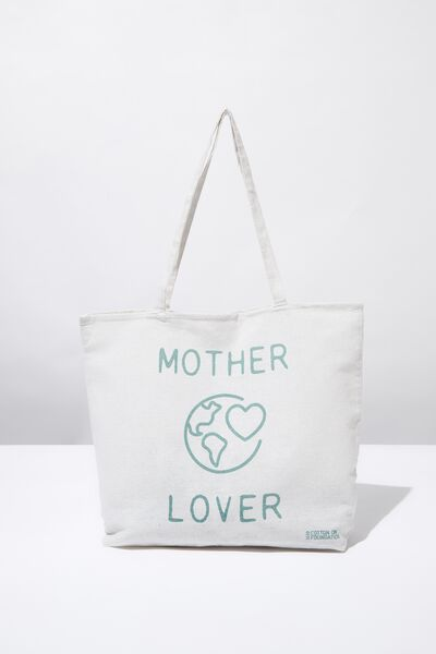 Typo Difference Tote Bag, MOTHER EARTH LOVER