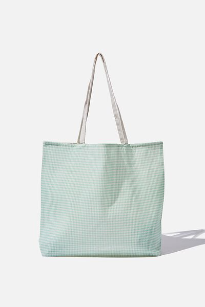 Pf Foundation Tote Bags, MINI GINGHAM