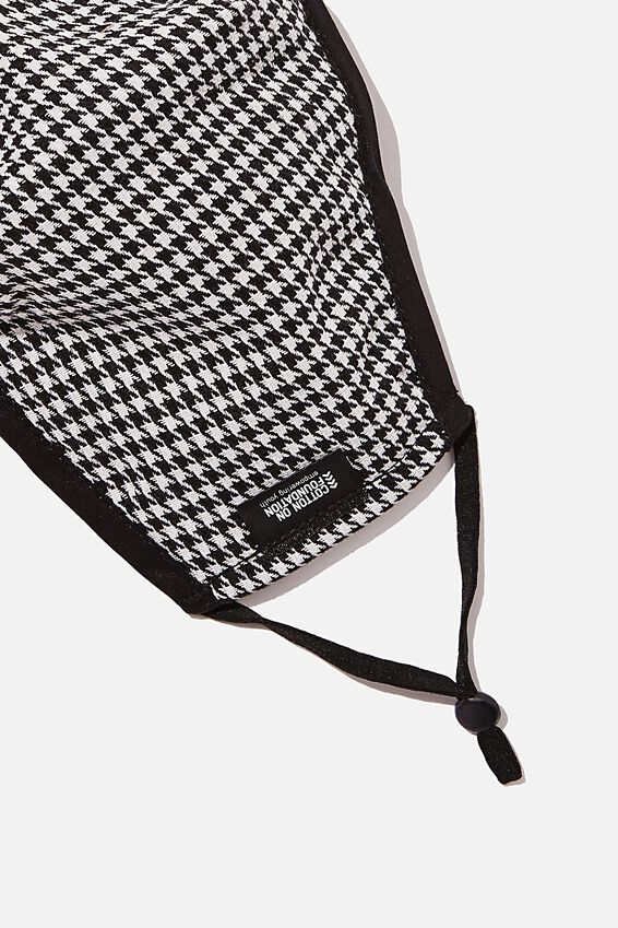 Foundation Face Mask, HOUNDSTOOTH