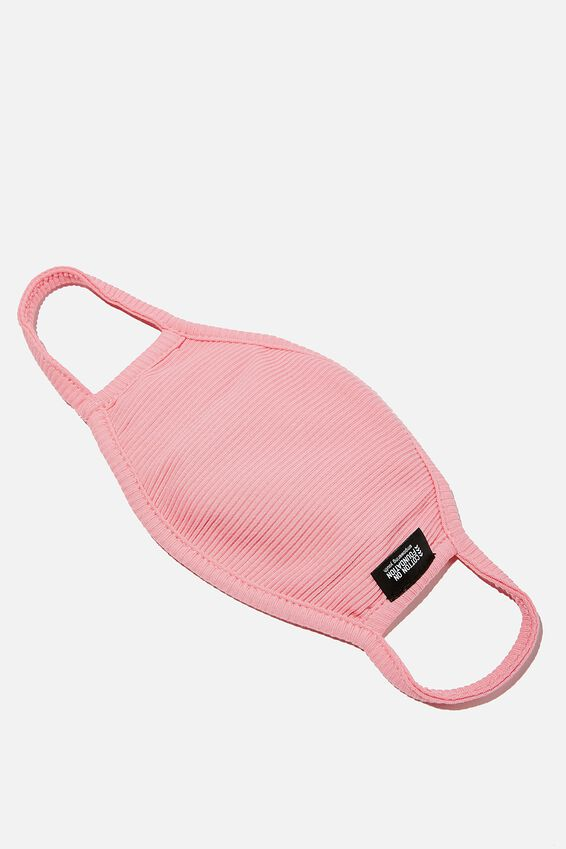 Foundation Rib Face Mask, BRIGHT PINK