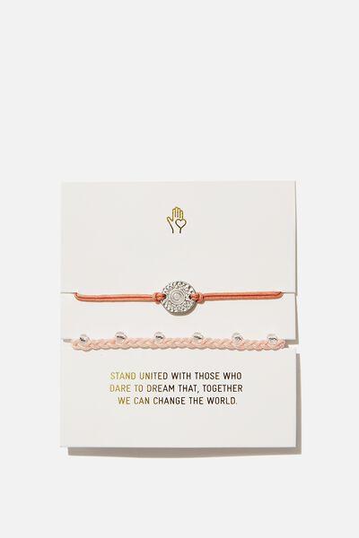 Cof Charm Friendship Bracelets, PINK SUN