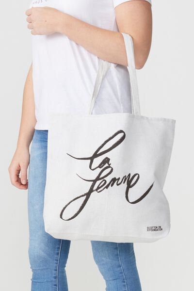 Cotton On Foundation Tote, LA FEMME