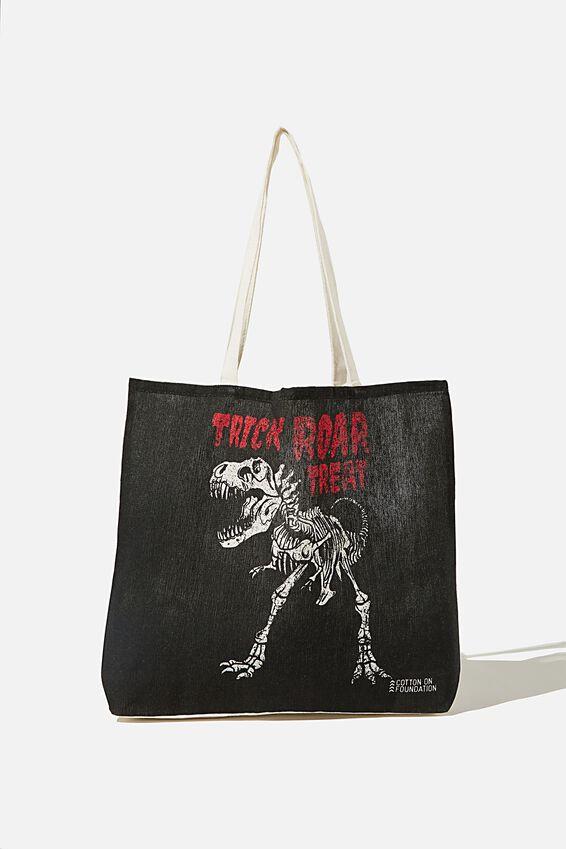 Foundation Kids Tote Bag, TRICK ROAR TREAT