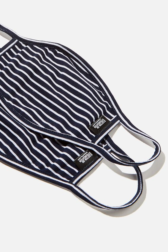 Foundation Jersey Face Mask, NAVY/WHITE STRIPE