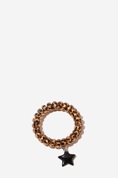 Coil Charm Bracelet, LEOPARD STAR