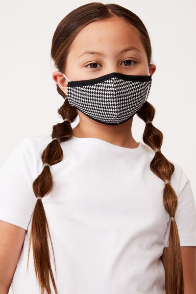 Foundation Face Mask Kids, HOUNDS TOOTH