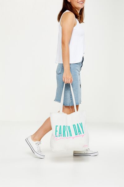 Cotton On Foundation Tote, EARTH DAY