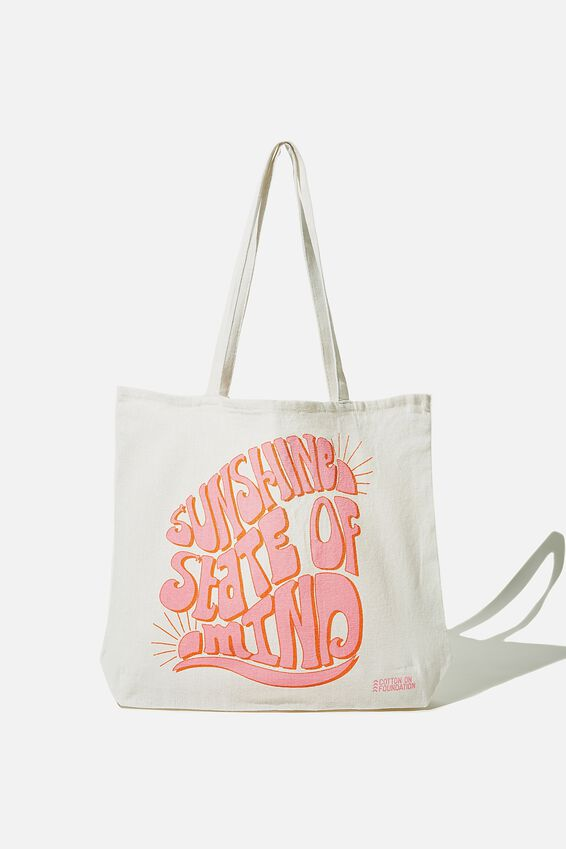 Foundation Body Tote Bag, SUNSHINE STATE OF MIND