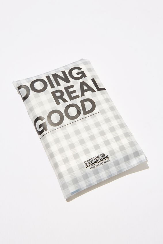 The 100% Difference Tissues, BLACK GINGHAM