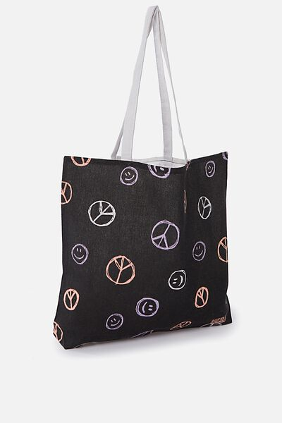 Foundation Kids Tote Bag, PEACE SMILEY