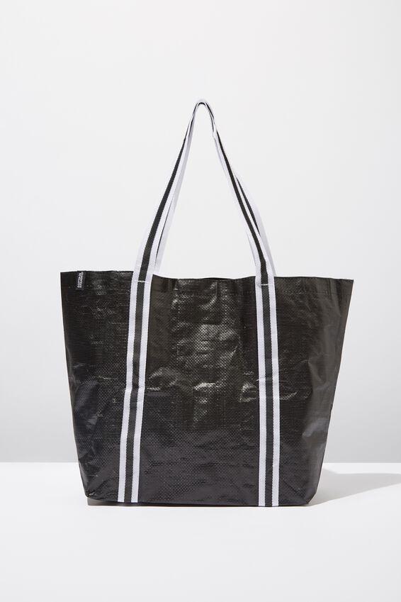 Cof Large Shopper, BLACK AND WHITE