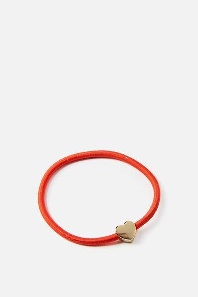 Juliet Bracelet, MANADARIN RED HEART
