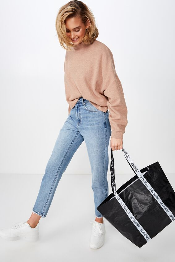 Foundation  Large Shopper, BLACK VISIONARY