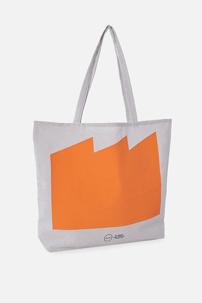 Pf Foundation Tote Bags, ORANGE FULL WAVE