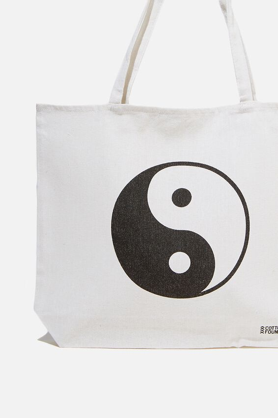Foundation Co Brands Tote Bag, YIN YANG ICON