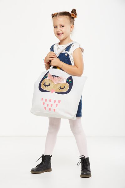 Foundation Kids Tote Bag, FRINGE OWL