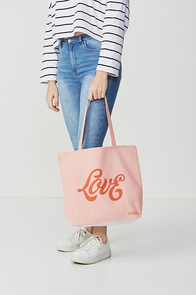 Cotton On Foundation Tote, LOVE