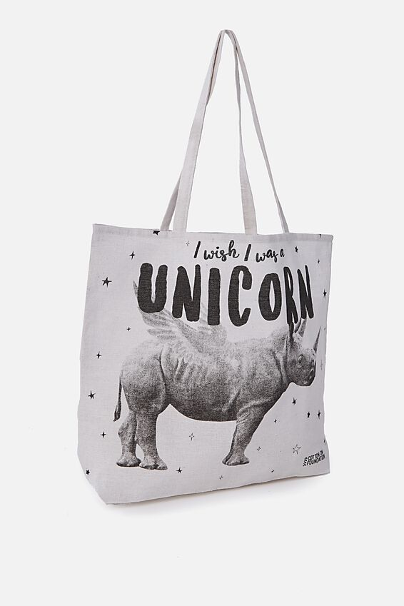 Typo Difference Tote Bag, RHINOCORN