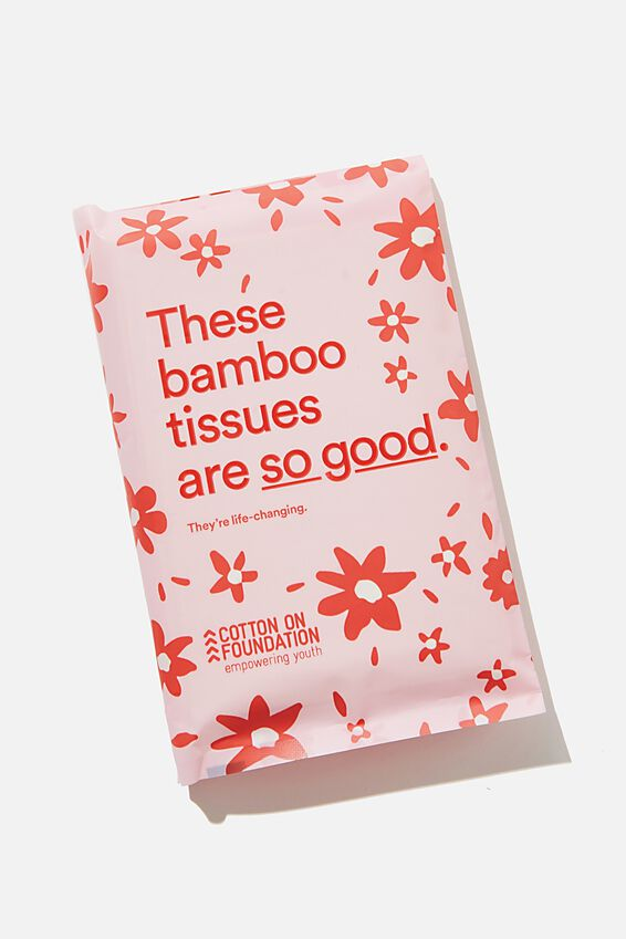 Foundation Bamboo Tissues, PINK RED DITSY SO GOOD