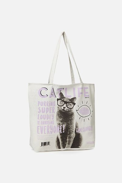 Typo Difference Tote Bag, CAT LIFE