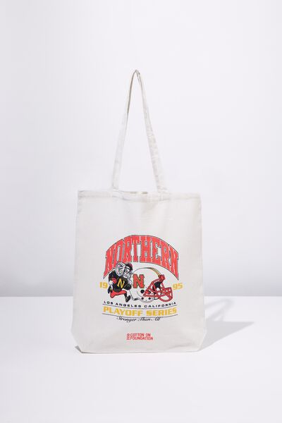 Cotton On Mens Foundation Tote, PLAY OFF