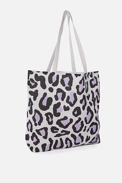 Cotton On Foundation Tote, LEOPARD PRINT