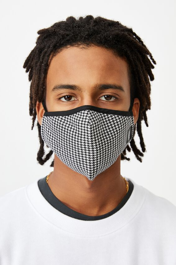 Foundation Face Mask, HOUNDSTOOTH