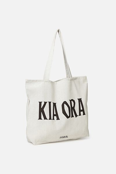 Cotton On Foundation Tote, NZ KIA ORA