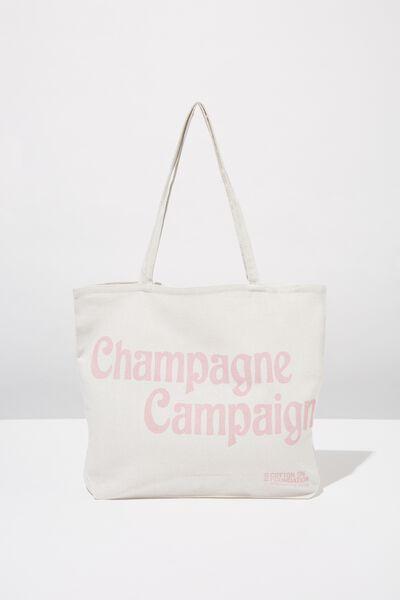 Body Tote Bag, CHAMPAGNE CAMPAIGN