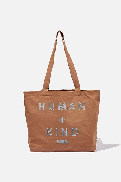 Foundation Exclusive Tote Bag, HUMAN KIND/COCOA BEAN