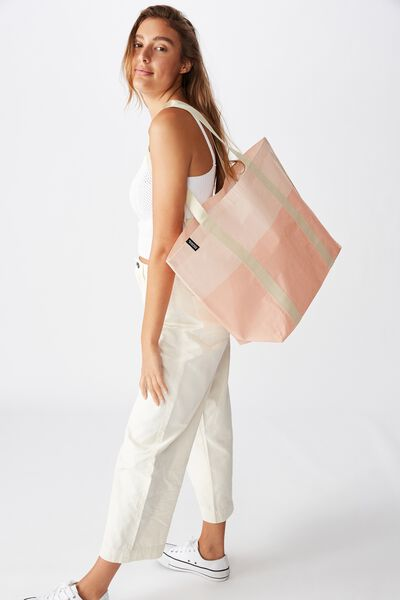 Foundation Recycled Large Shopper, Peach Melba Tonal
