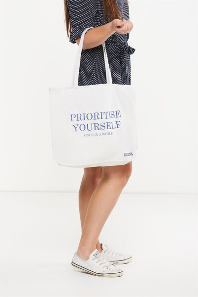 Cotton On Foundation Tote, PRIORITISE YOURSELF